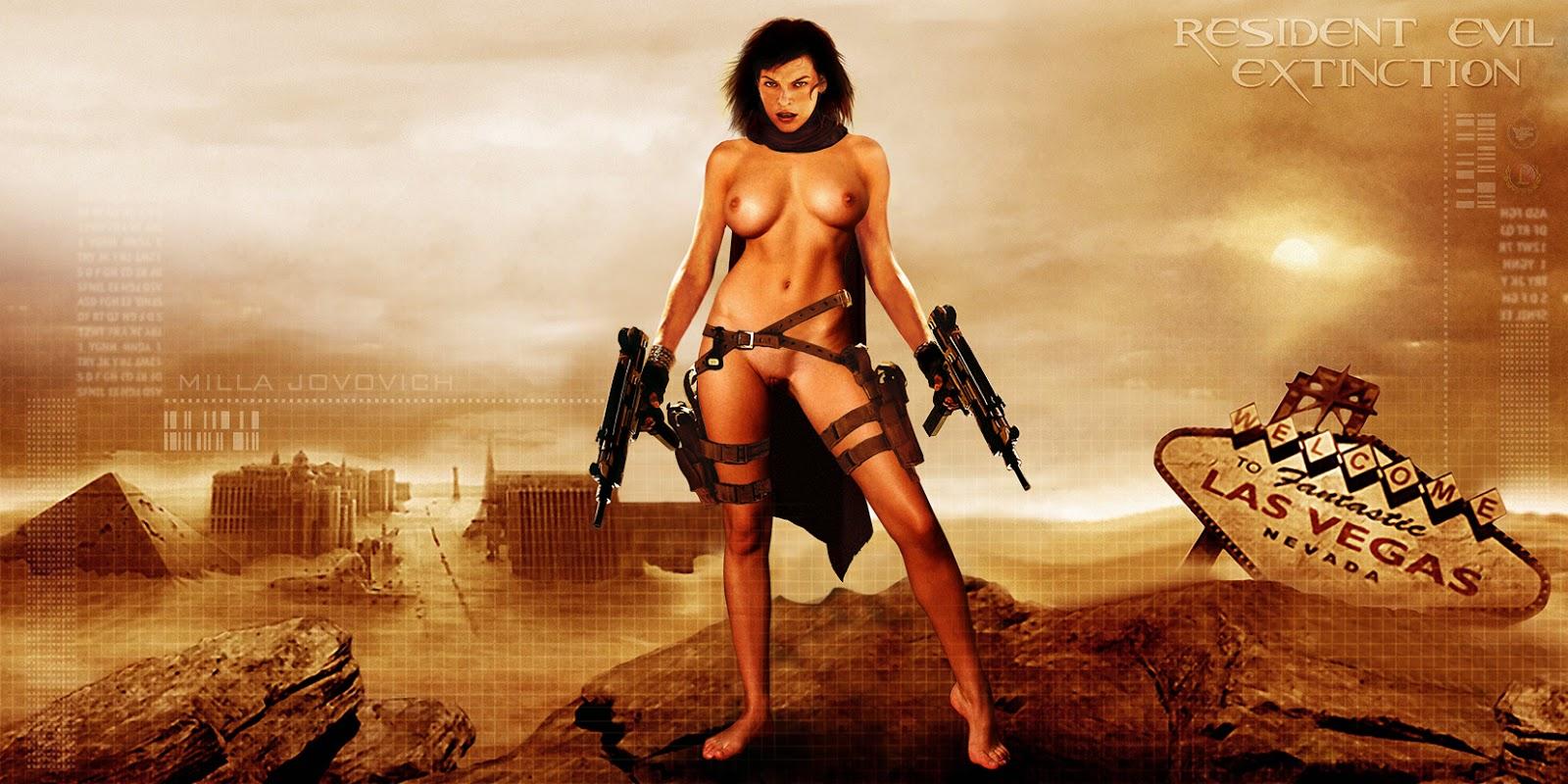 Milla Jovovich Nude Resident Evil Poster Uhq