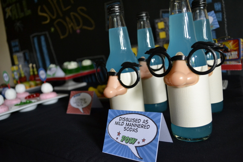 Super Dad Father's Day Luncheon drink bottles