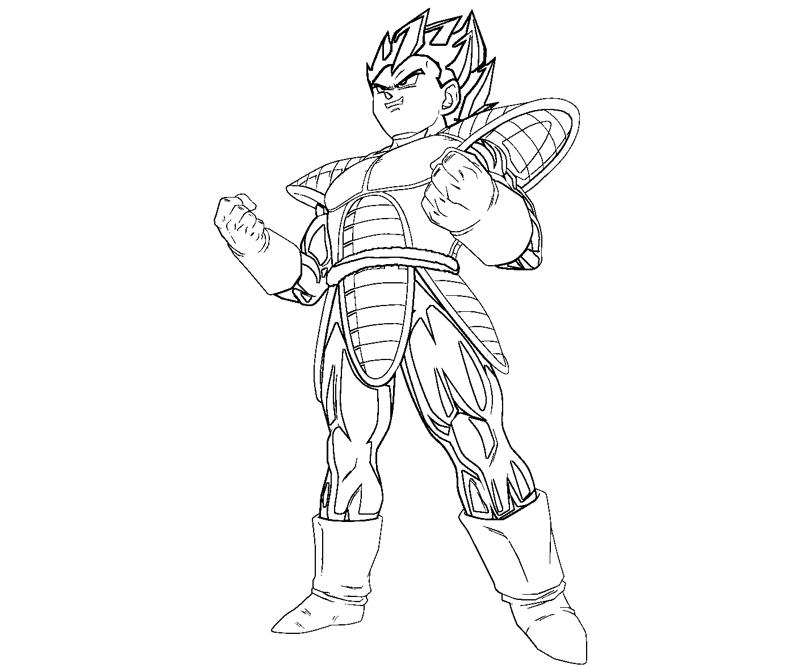 Vegeta 13 coloring crafty teenager for Vegeta coloring pages