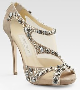 golden glittery bridal footwear