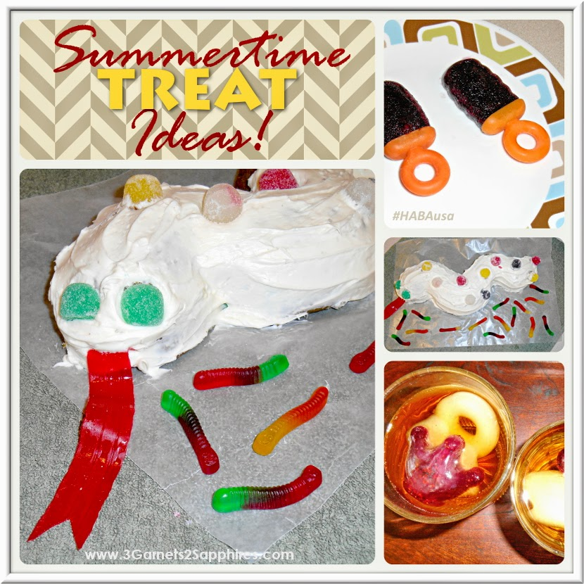 A snake cake and other summertime party treat ideas | from 3 Garnets & 2 Sapphires