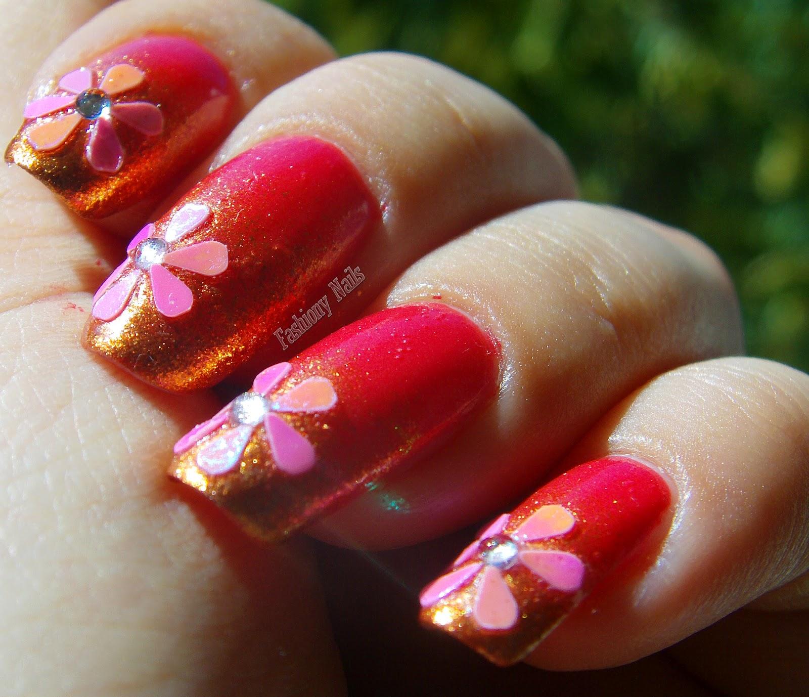 Summer Flower Nail Design | Fashiony Nails | Beauty Blog