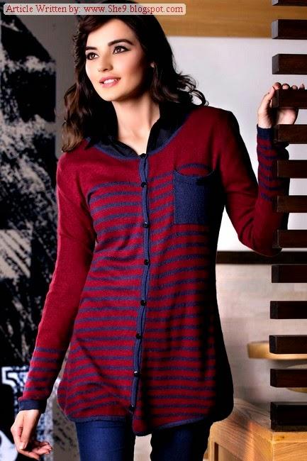 Dashing Ladies Sweater In Pakistan Zeen Sweaters Collection 2014