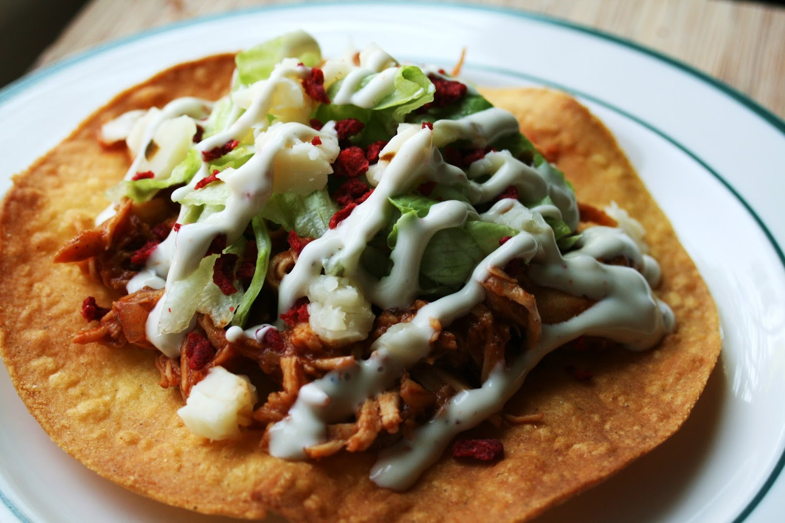 I Thee Cook: Bacon Ranch Chicken Tostada