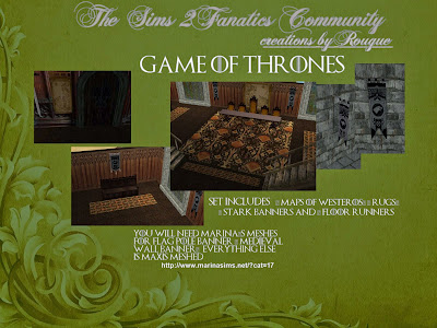 Rougue 39 S Designs For The Sims 2 Game Of Thrones