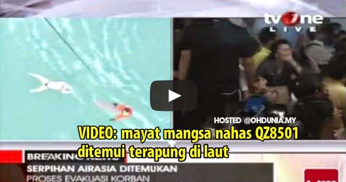 Video: Mayat mangsa nahas AirAsia QZ8501 ditemui terapung di laut