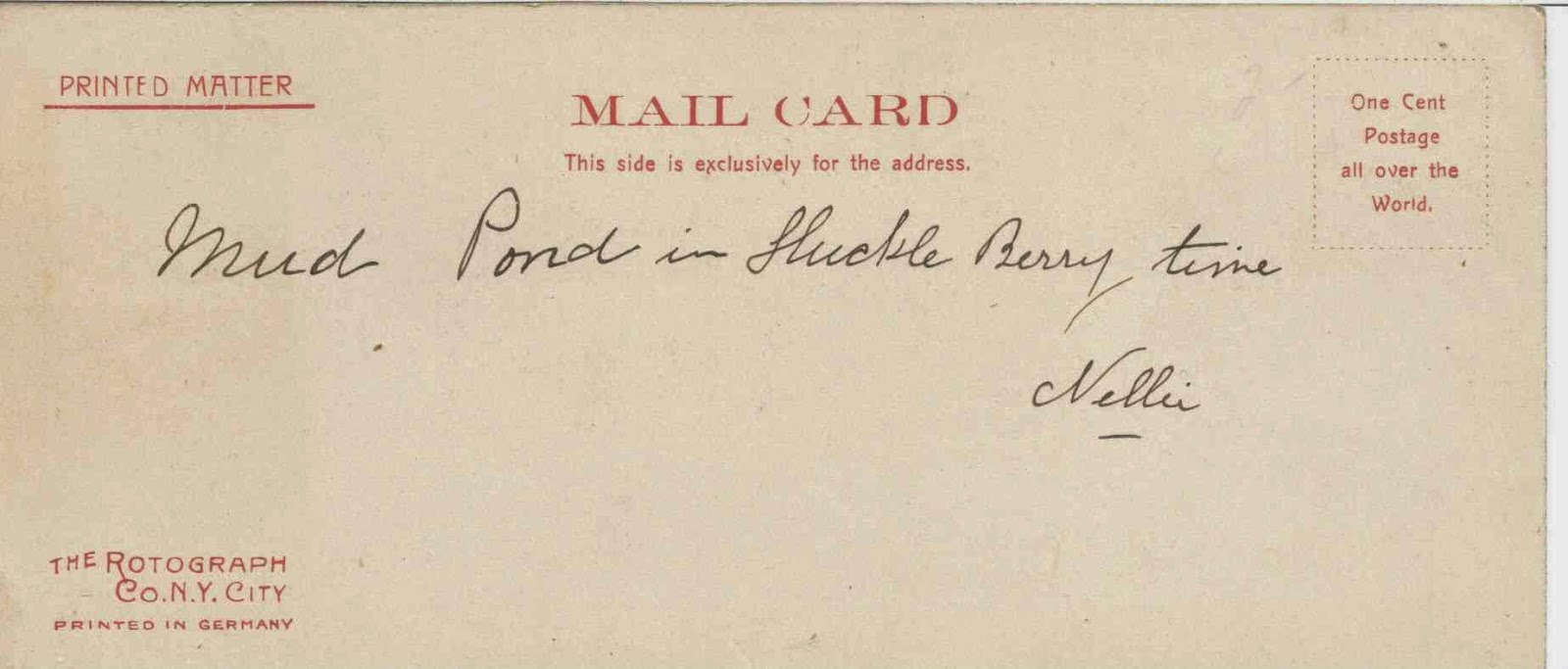 early 20th century Rotograph Post Card
