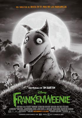 Cartel final de la película de animación Frankenweenie, obra de Tim Burton. Más información en Making Of