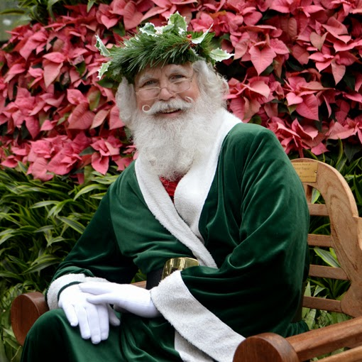 Saint Nick at the Atlanta Botanical Garden