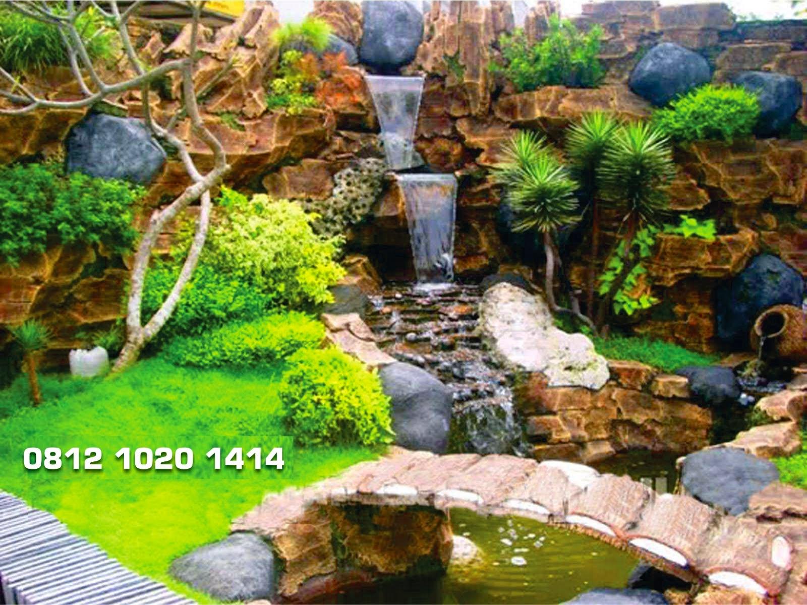 Tebing Dekorasi Taman