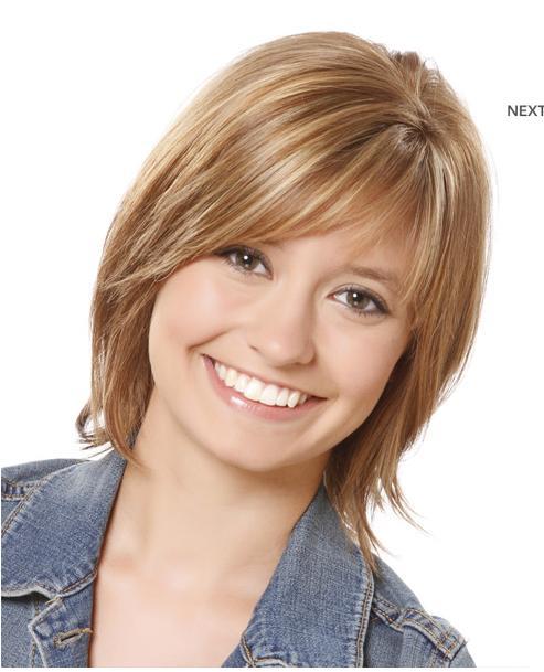 Hairstyles For Straight Thin Hair: Pixie Lott Hot Photos: Casual Medium Straight Hairstyle
