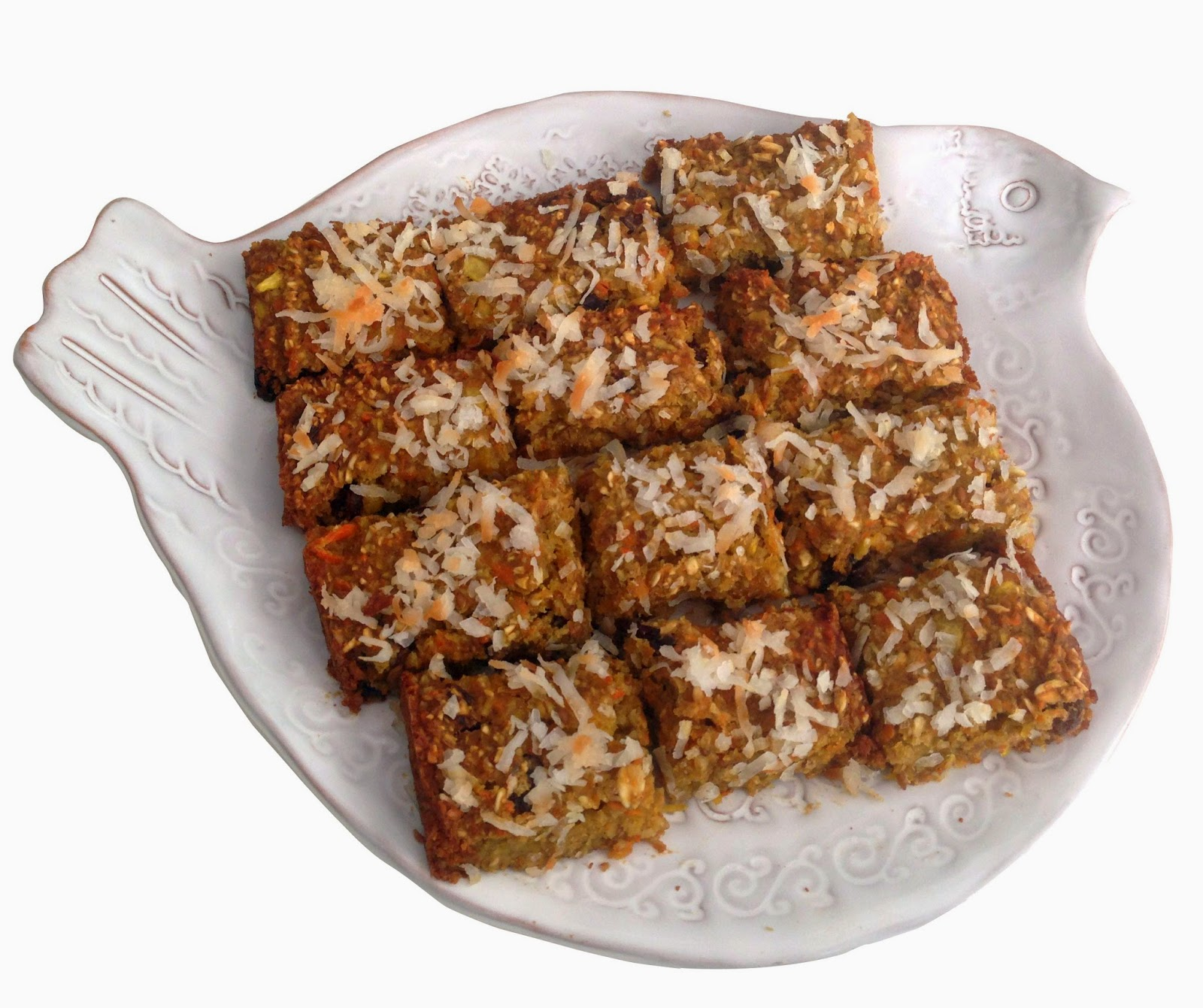 Pineapple Carrot Coconut Bars recipe, gluten-free, Bella Bella Vita