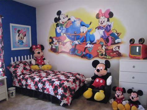 Chambre mickey mouse id es d co moderne for Decoration mickey chambre