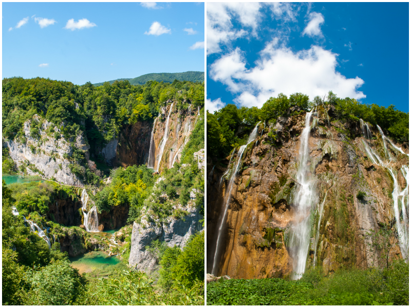 largest waterfall at the Plitvice Lakes National Park image and scenery