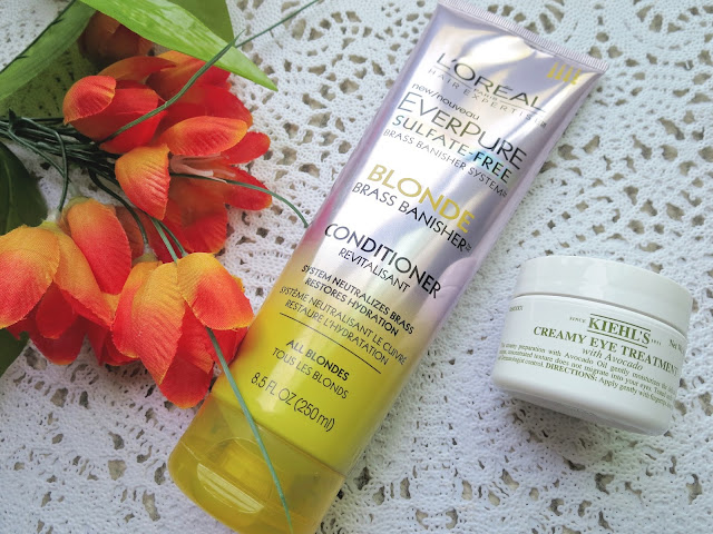 a picture of L'Oreal EverPure Blonde Conditioner, Kiehl's Creamy Eye Treatment with Avocado (Review)