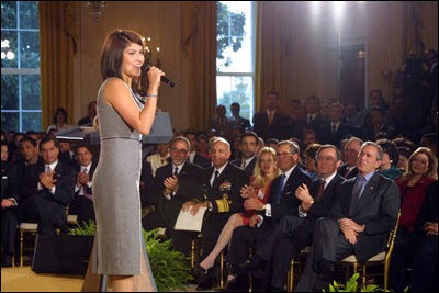 Jaci Velasquez at the White House