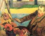 Paul Gauguin (40 años) - Van Gogh pintando girasoles (1888)