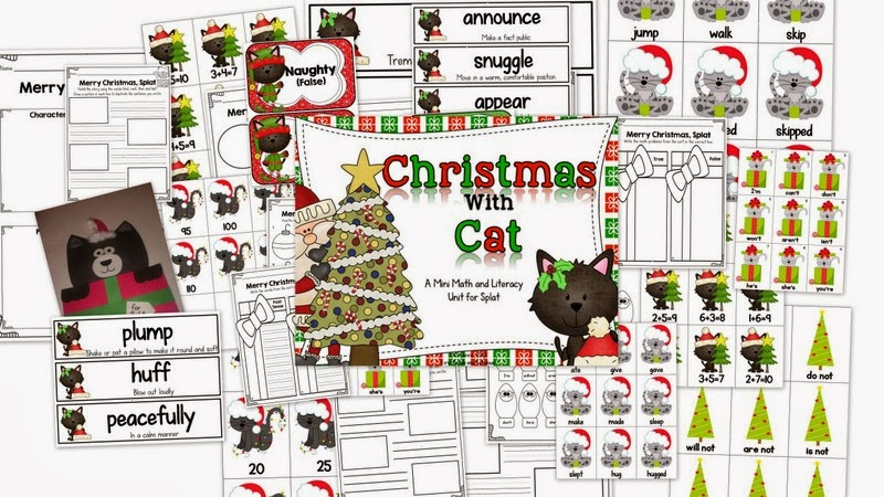 http://www.teacherspayteachers.com/Product/Christmas-with-Cat-A-Mini-Math-and-Literacy-Unit-for-Splat-1016126