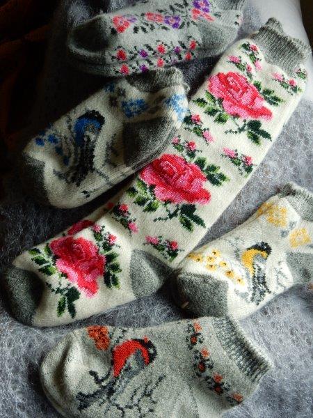 TE KOOP: wollen(huis)sokken 100% wol.