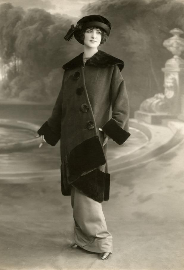 Parisienne Winterwear 1912 #vintage #winter #fashion #1900s #coat