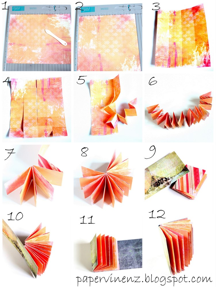 How To Make A Book Cover Out Of Notebook Paper : Page mini sheet of paper tutorial papervine