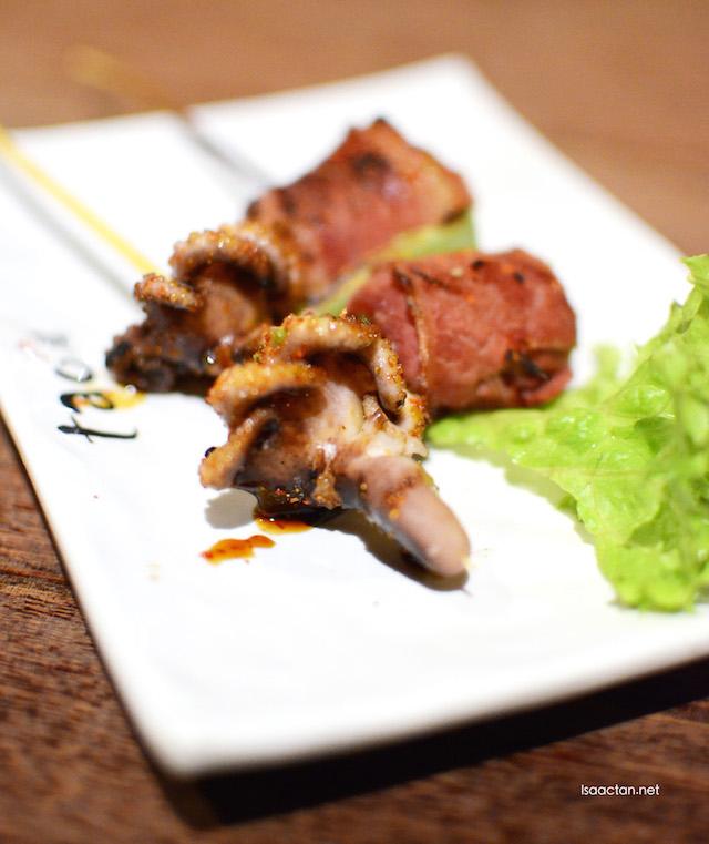 Idako with bacon