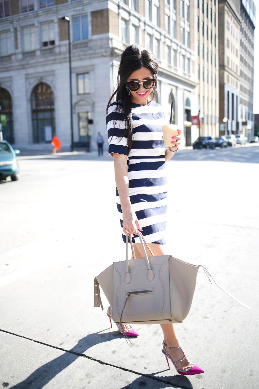 celine handbag shop online - topshop striped dress nordstrom topshop stripe dress pink valentino rockstud heels valentino rockstud look alikes prada sunglasses with gold bar celine  ...