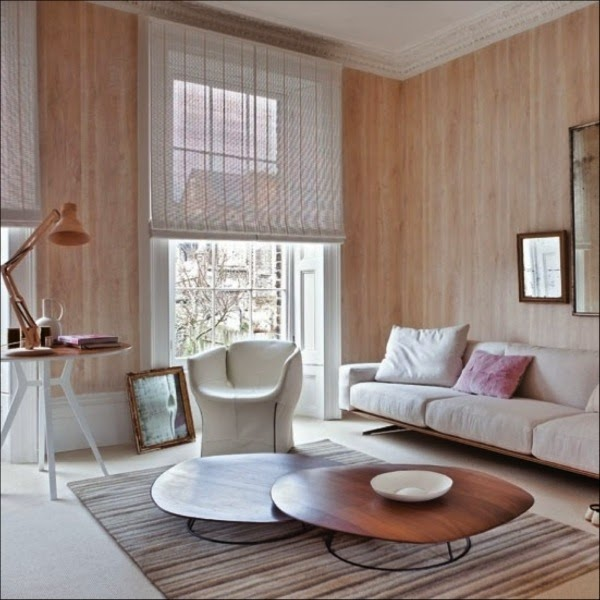 Beautiful wooden wall panels as an elegant accent wall
