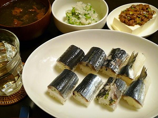 昨日のおっさんひとり飯 イワシ姿寿司