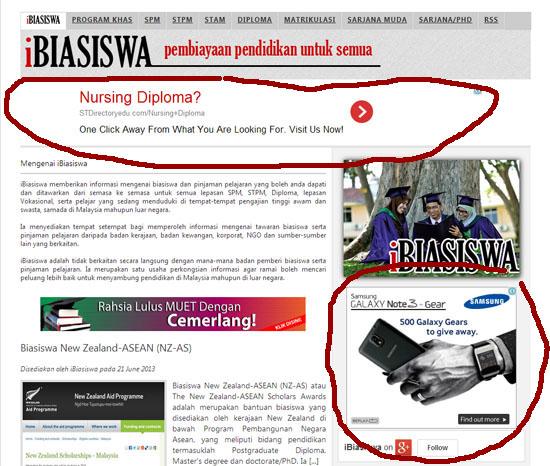 blog berbahasa melayu dengan iklan adsense