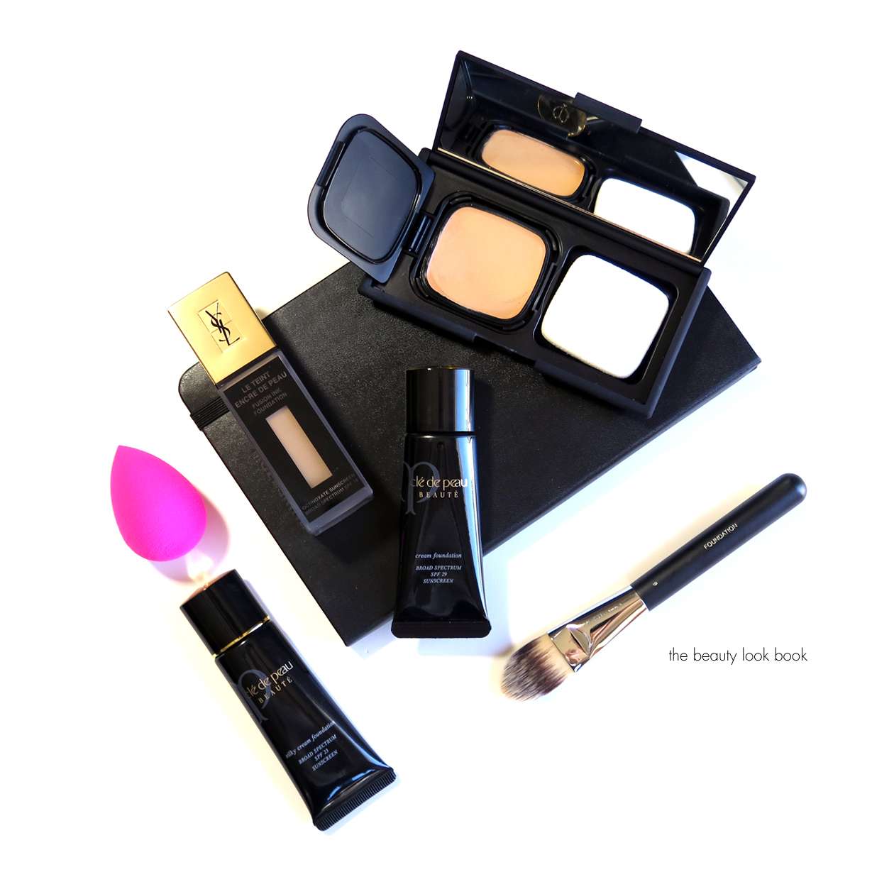 foundation testing with cl233 de peau beaut233 nars and ysl