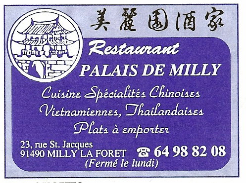 Restaurant Chinois Milly La Foret