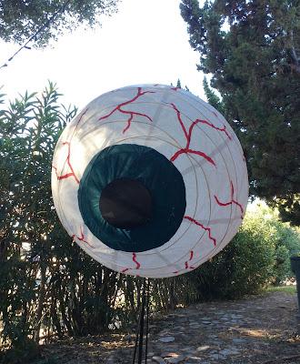 Giant eyeball halloween decoration paper lampshade, stefanie Girard