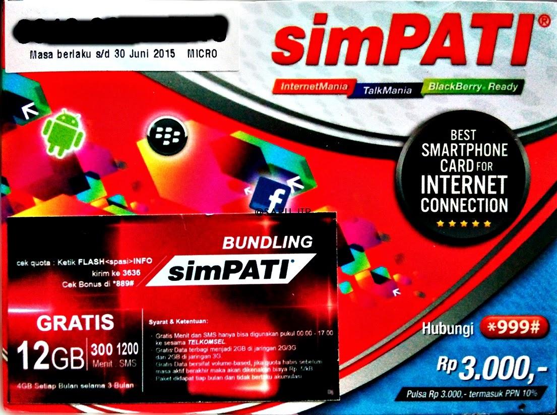 Paket Internet Telkomsel 12 GB