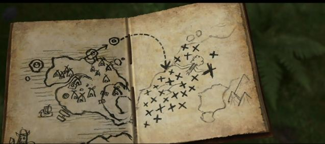 Dragon notes hiccups drawings and inventions a map hiccup drew of raven point as seen in how to train your dragon ccuart