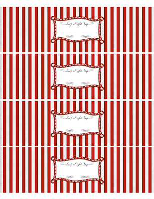 More carnival party ideas and printable freebies for Gartner labels templates