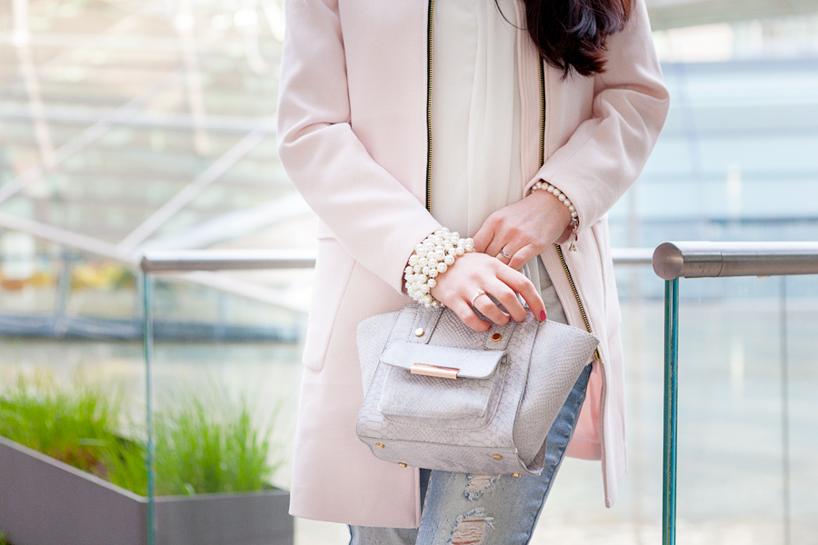 Bild Detail, Mantel, Rosa, Grau, Tasche, oootd, Style, Outfit, Fotografie, Hannover