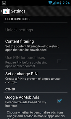 Google Play Settings