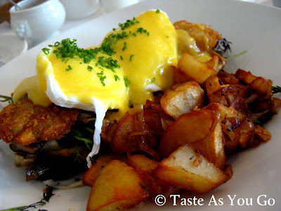 Eggs Chizmar at Bolete Restaurant and Inn in Bethlehem, PA - Photo by Michelle Judd of Taste As You Go