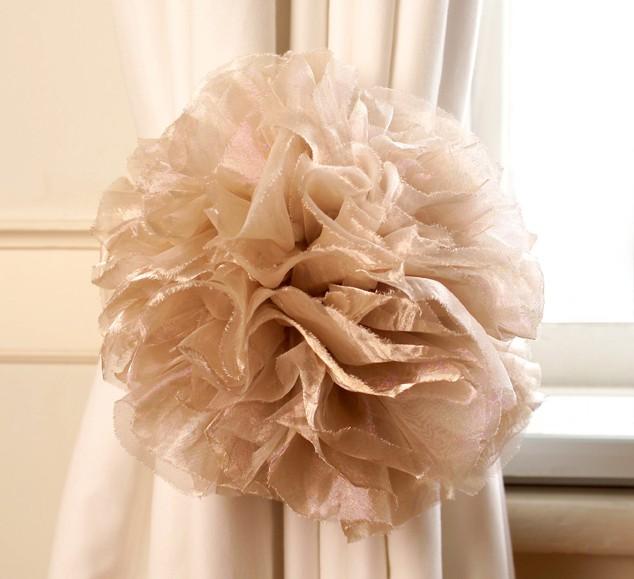 Abrazaderas con estilo para cortinas finas y elegantes - Lazos para cortinas ...