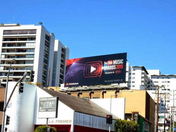 2015 YouTube Music Awards billboard