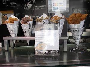 Sea food snacks in San Miguel Mercado market in Madrid.