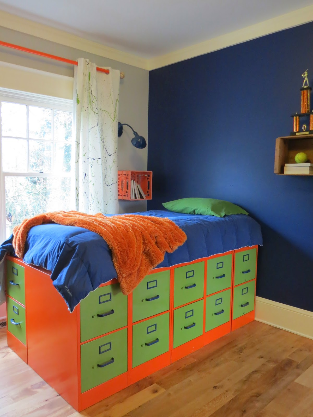 DIY Filing Cabinet Bed