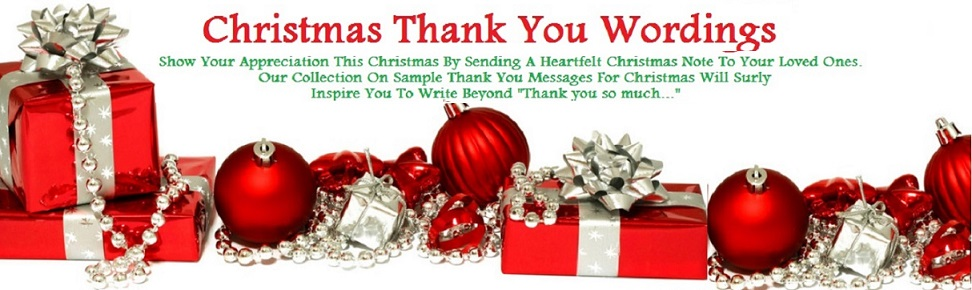 Christmas Thank You Messages