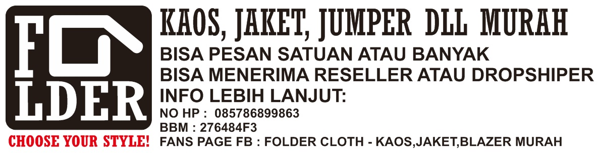 Kaos jaket jumper dll murah