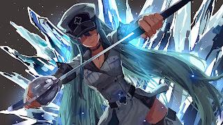 Tapeta Full HD z Akame Ga Kill z Esdeath z lodem i mieczem