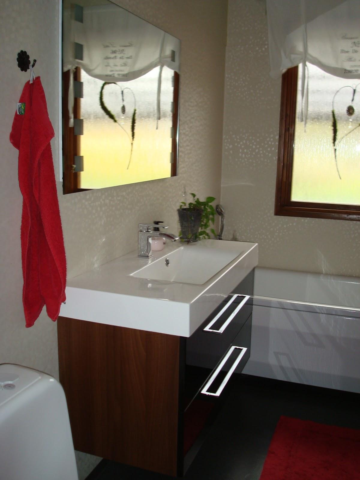 Vit hortensia: badrum