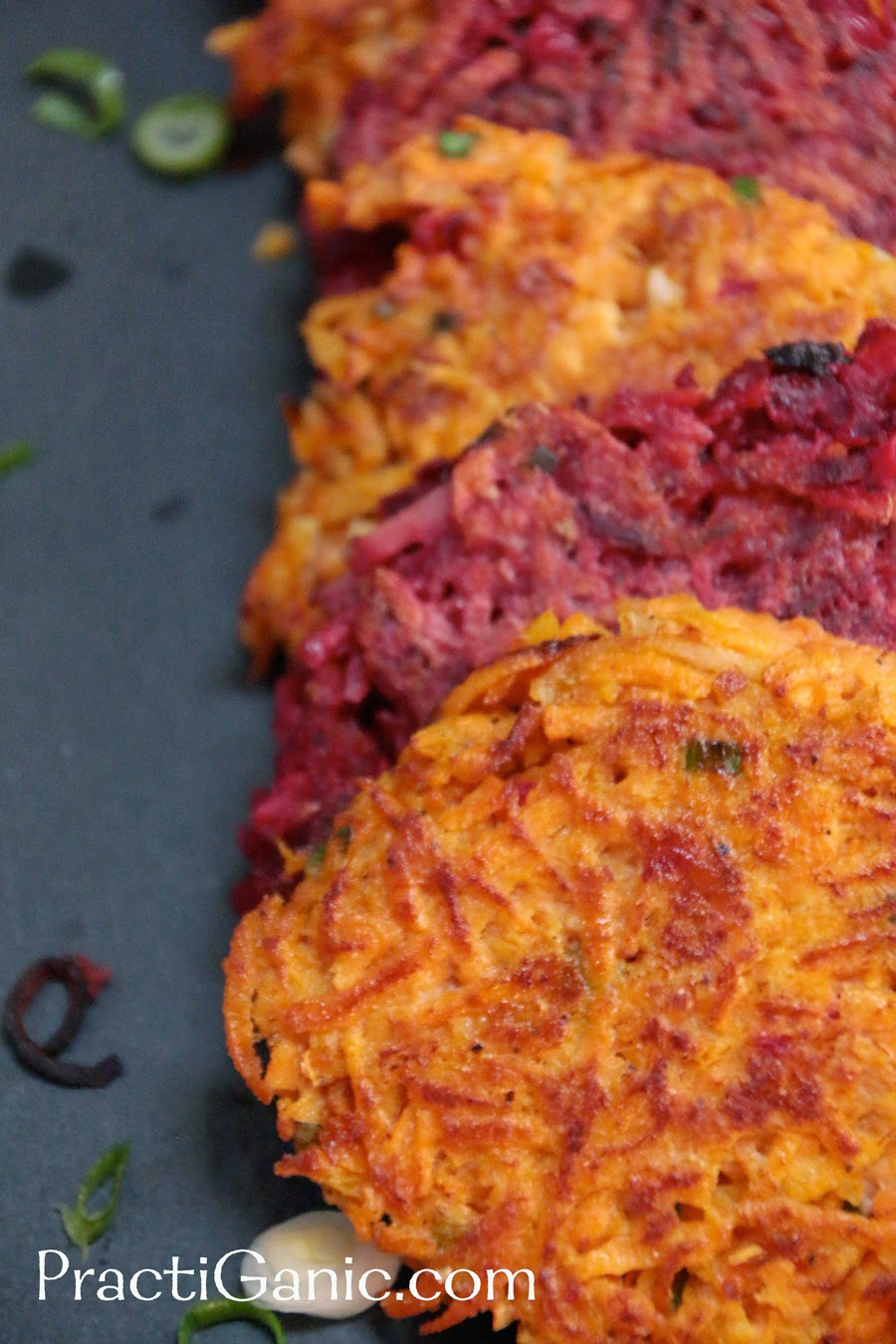 Root Vegetable Potato Pancakes with Yogurt Dip