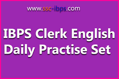 IBPS CWE CLERK :: ENGLISH PASSAGE