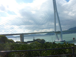 Tatara bridge as seen from the Shimanami Kaido bikeway on Ikuchijima